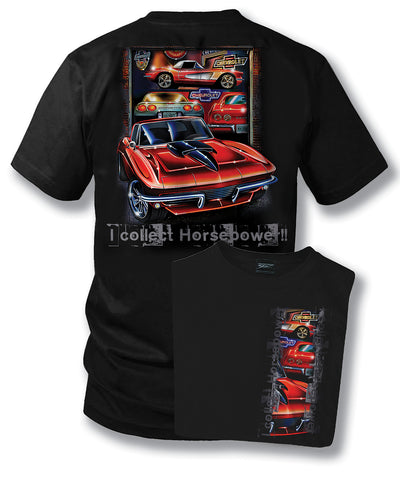 Corvette Shirt - Collect Horsepower - C1, C2, C3, C5- $19.99 - Wicked Metal