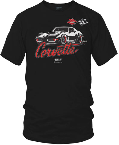 Image of Corvette c3 Stylized - Corvette C3 Stylized logo shirt - Wicked Metal