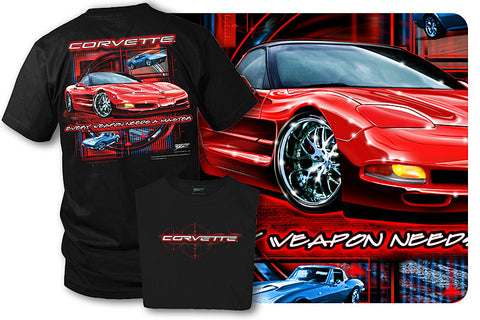 Corvette shirt - Every Weapon - Corvette C5 shirt - Wicked Metal