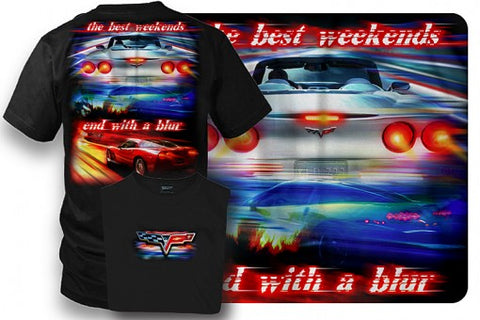 Image of Corvette Shirt - Corvette C6 - Best Weekends - Wicked Metal