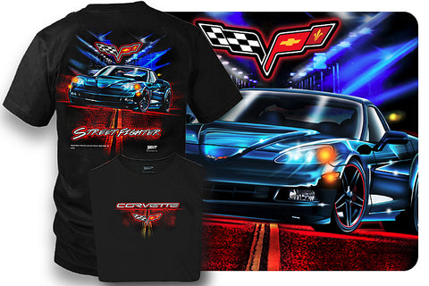 Image of Corvette Shirt - Corvette C6 - Street Fighter - Wicked Metal