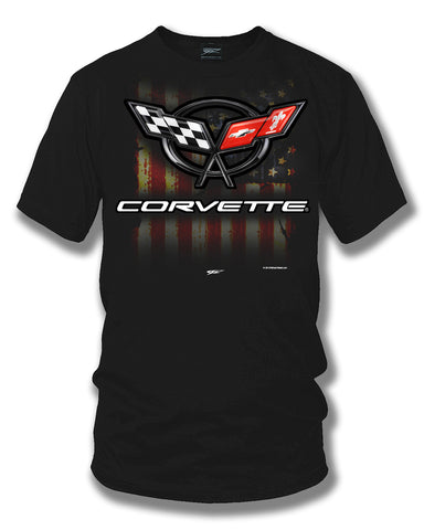 Corvette c5 logo - American Flag C5 logo shirt - Wicked Metal