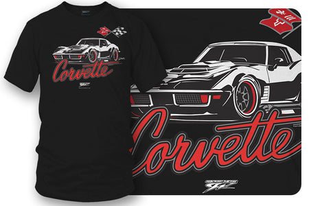 Corvette c3 Stylized - Corvette C3 Stylized logo shirt - Wicked Metal