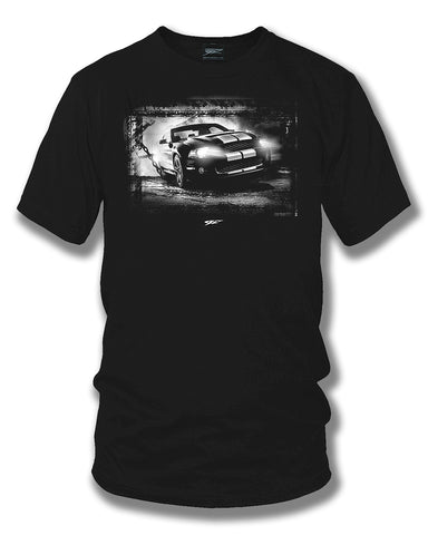 Image of Mustang Coyote Chained t shirt - Wicked Metal - Wicked Metal