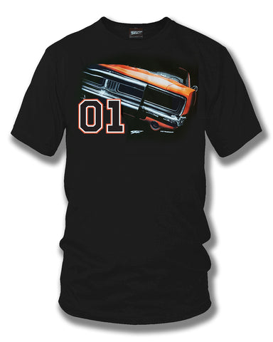Image of Dodge Charger t-shirt, Dukes of Hazzard Style t-shirt Black - Wicked Metal - Wicked Metal