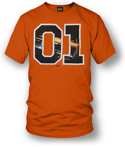 Image of Dodge Charger t-shirt, Dukes of Hazzard Style t-shirt Orange- Wicked Metal - Wicked Metal