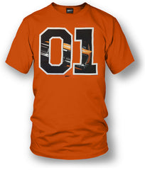 Dodge Charger t-shirt, Dukes of Hazzard Style t-shirt Black or Orange- Wicked Metal - $19.99