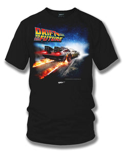 Drift to the Future - Delorean DMC t shirt - Wicked Metal