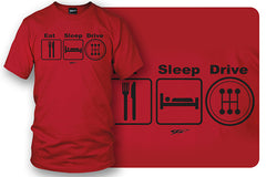 Wicked Metal - Eat Sleep Drive Stick, Red shirt - $19.99 - Wicked Metal