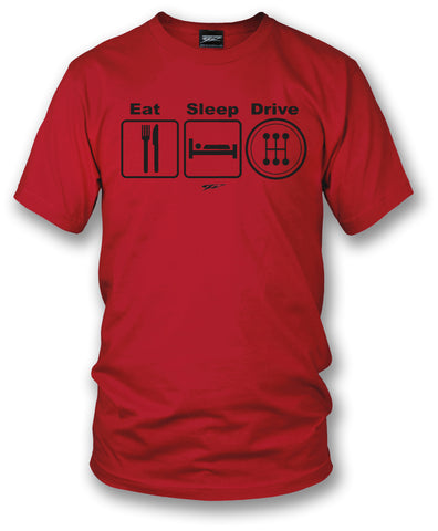 Image of Wicked Metal - Eat Sleep Drive Stick, Red shirt - Wicked Metal