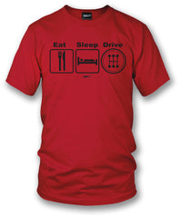 Wicked Metal - Eat Sleep Drive Stick, Red shirt