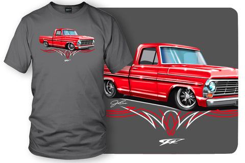 Image of 1967, 68, 69 Ford F100 - Truck T-Shirt - Ford F100 t-Shirt - Wicked Metal