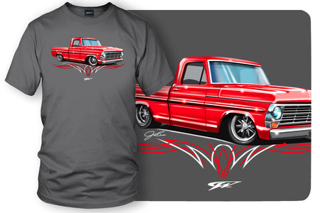 1967, 68, 69 Ford F100 - Truck T-Shirt - Ford F100 t-Shirt - Wicked Metal