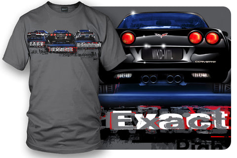 Image of Corvette shirts - Fast, Exact, Dominant C3, C5, C6 shirt - Wicked Metal