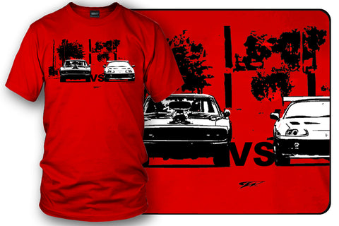 Image of Supra vs Charger t-shirt, Fast and Furious t-shirt - Wicked Metal - Wicked Metal