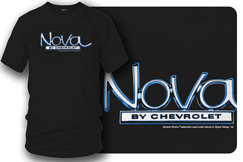Image of Chevy Nova logo t-shirt - Black - Wicked Metal