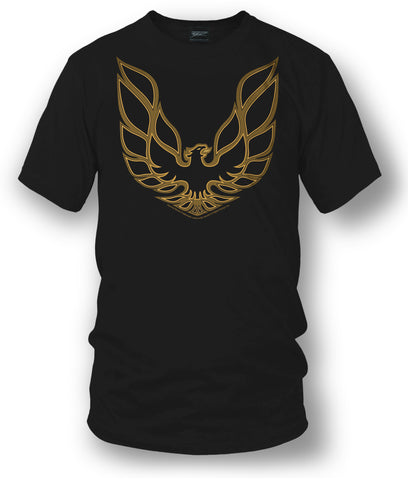 Firebird Trans Am hood emblem t shirt  Black - Muscle Car Shirt - Wicked Metal
