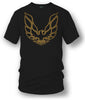 Image of Firebird Trans Am hood emblem t shirt  Black - Muscle Car Shirt- $19.99 - Wicked Metal
