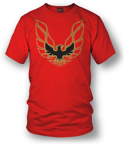 Firebird Trans Am t shirt hood decal  - Red - Wicked Metal