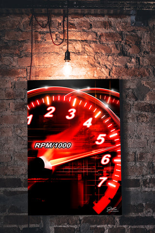 Speedo Redline wall art - garage art