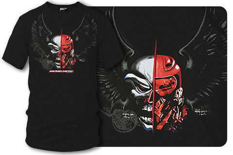 Sport bike shirts - Fighter Pilot (Black) - $16.95 - Wicked Metal