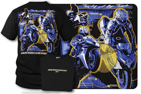 Image of Sport bike shirts - Tricks of the Trade (Black) - Wicked Metal