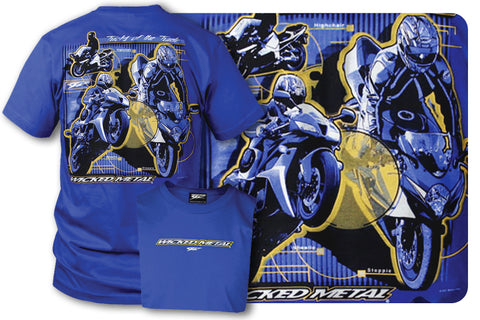 Crotch Rocket shirts - Tricks Of the Trade (Blue) - $16.95 - Wicked Metal