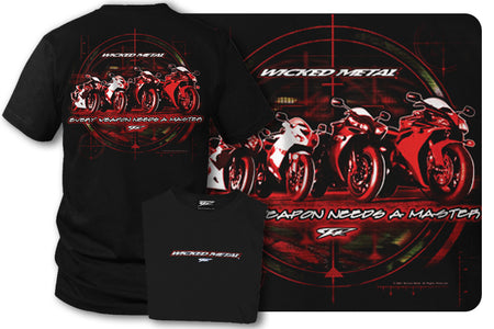 Sport bike shirts - Weapons (Black) - Wicked Metal