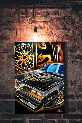 Trans Am Bandit wall art - garage art