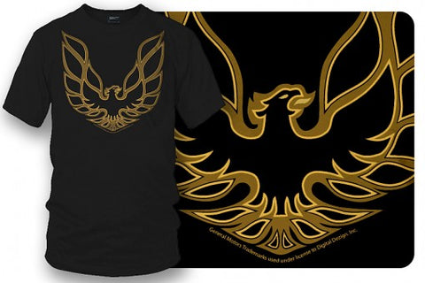 Image of Firebird Trans Am hood emblem t shirt  Black - Muscle Car Shirt - Wicked Metal