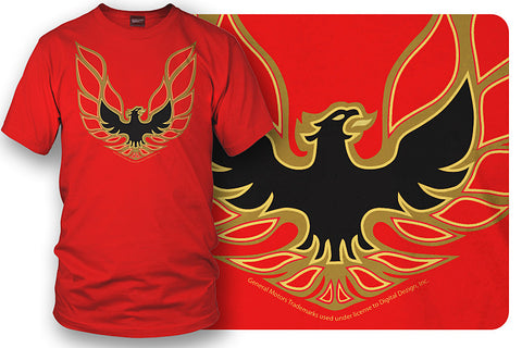 Image of Firebird Trans Am t shirt hood decal  - Red - Wicked Metal