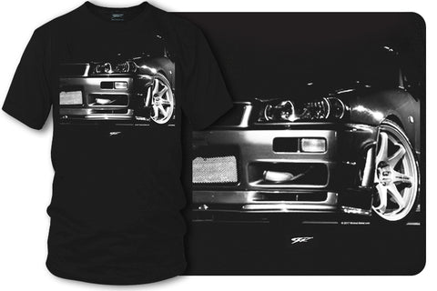 Image of Nissan Skyline R34 GT-R t shirt - Wicked Metal - Wicked Metal