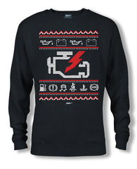 Check Engine Ugly Sweatshirt Black - Wicked Metal