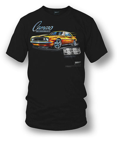 67 Camaro - Get In, Hold On - Chevy Camaro t shirt - Wicked Metal