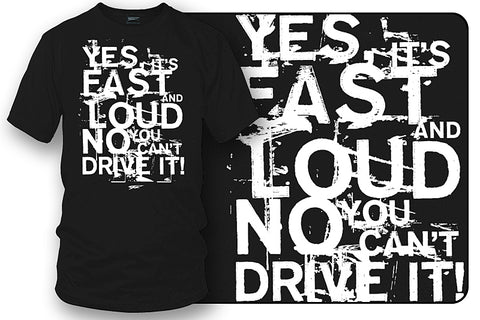 Image of Fast Loud t-shirt - drag racing, tuner car shirts, Street racing - Wicked Metal