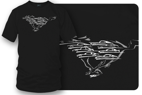 Mustang Shirts, Mustang Silhouettes all years - Wicked Metal - Wicked Metal