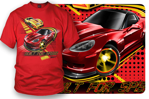 Corvette Kids Shirt - Corvette C6 - Built for Speed- $16.99 - Wicked Metal