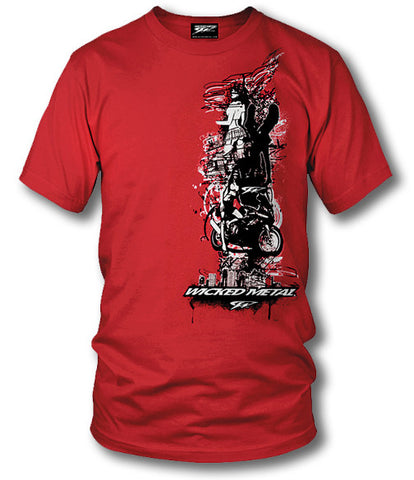 Image of Sport bike shirts - Night Life - Wicked Metal