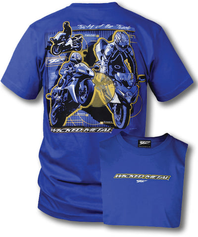 Image of Crotch Rocket shirts - Tricks Of the Trade (Blue) - Wicked Metal