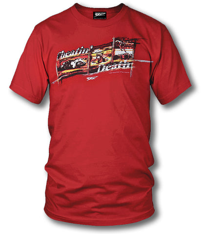 Sport bike shirts - Cheatin' Death (Red) - $16.95 - Wicked Metal