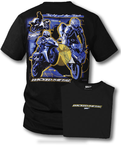 Sport bike shirts - Tricks of the Trade (Black) - $16.95 - Wicked Metal