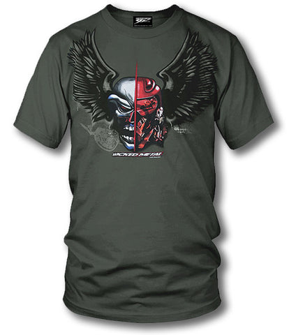 Sport bike shirts - Fighter Pilot (OD Green)- $16.95 - Wicked Metal