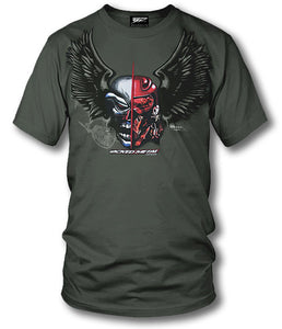 Sport bike shirts - Fighter Pilot (OD Green) - Wicked Metal