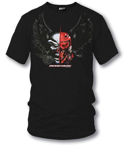 Image of Sport bike shirts - Fighter Pilot (Black) - Wicked Metal