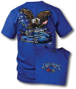 Corvette shirt - Live to Drive - 1965 Corvette - Wicked Metal