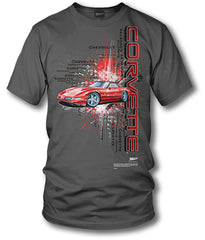 Corvette shirt - Burst - C4, Corvette ZR-1, Corvette shirt - $19.99