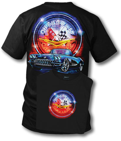 Corvette shirt - Neon - 1958 Corvette shirt - Wicked Metal
