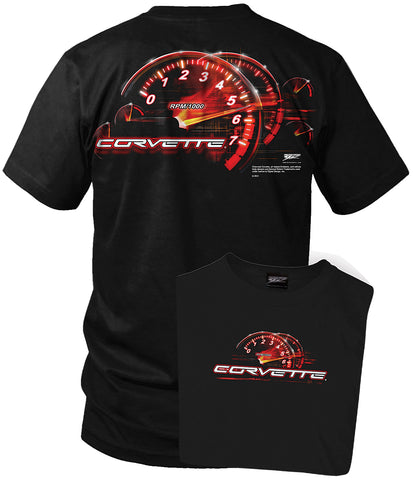 Image of Corvette c5 shirt - Redline - Tach Speedo - Wicked Metal
