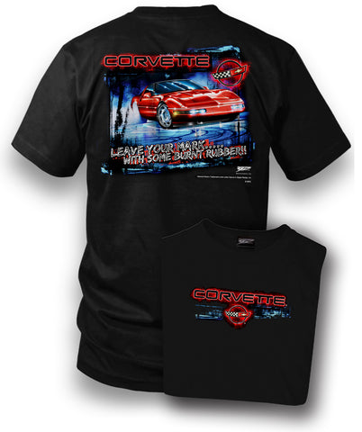Image of Corvette Shirt - Leave Your Mark - Corvette C4 shirt - Wicked Metal