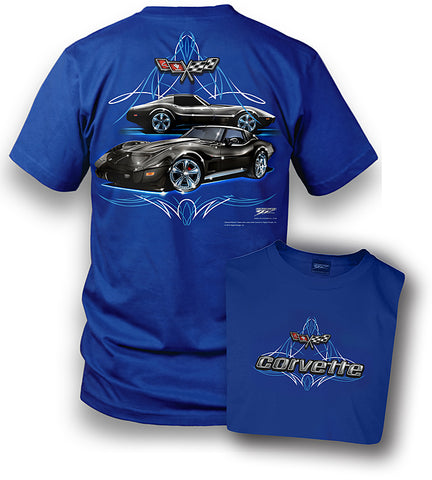 Image of Corvette Shirt - Pinstripe - Corvette C3 shirt - Wicked Metal